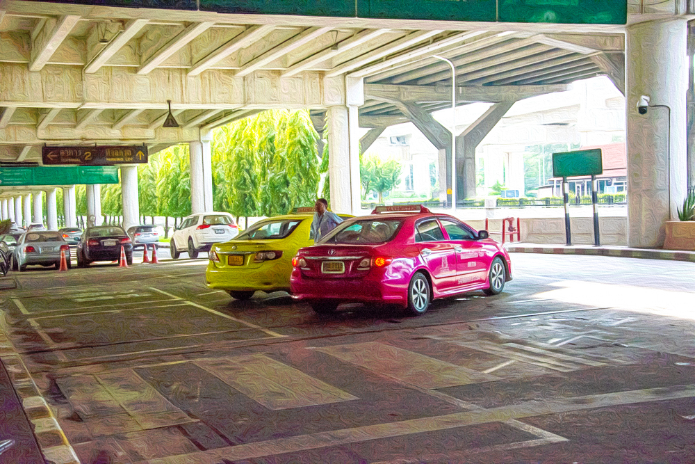 バンコク ドンムアン空港 1枚目 タクシー
